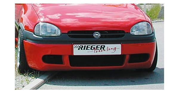 Rieger Frontal Alerón Enfoque Negro Mate Variante 2 para Opel Corsa B: 02.93 - 09.96 (hasta Modelo 97): Amazon.es: Coche y moto