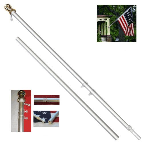 6ft Spinning Stabilizer Pole (Silver) (Wind Stabilizer)