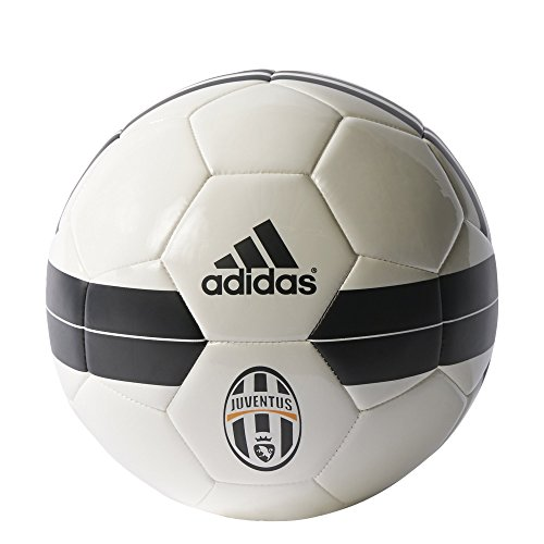 adidas Italian Serie A Juventus Soccer Ball, Size 5, White/Black