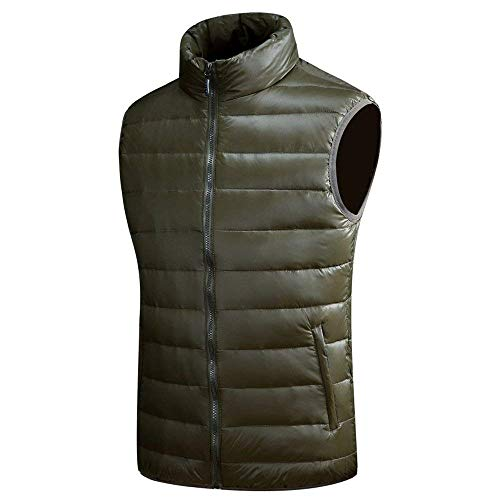 Sleeveless Unique Jacket Coat Nenet Quilted Mens Warm Winter Vest Men's Down Grün Vests Coat Down Tiefes Jacket Vest zSAcqP8