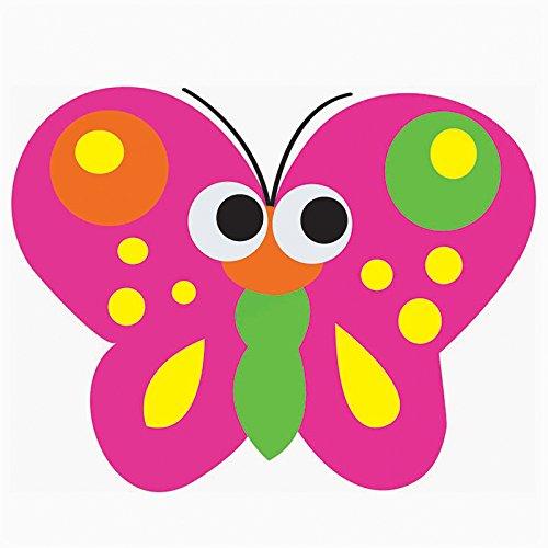 Ashley ASH10008BN Magnetic Whiteboard Eraser, Butterfly, MultiPk 6 Each