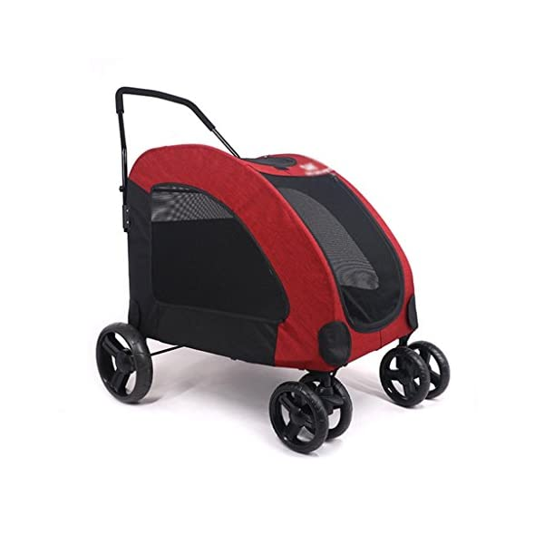 YD Pet Travel Carrier Pet Trolley Disabled Dog Assisted Vehicle Injured Dog Pet Scooter Outing Folding Cart Large And… Click on image for further info.