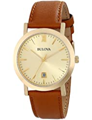 Bulova Unisex 97B135 Analog Display Japanese Quartz Brown Watch