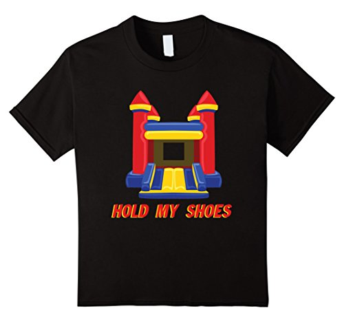 Price comparison product image unisex-child Bounce House Tee | Hold My Shoes Inflatable Castle 12 Black