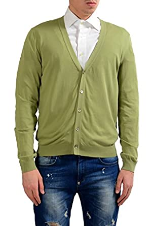 Malo Men's Light Green Cardigan Sweater at Amazon Men's Clothing ...
