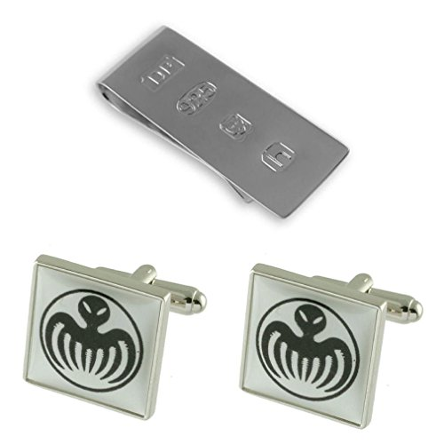 Alloy Cufflinks Silver Money Spectre Bond Sterling 007 James Square with xnzA8wEtp