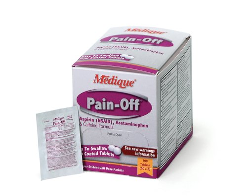 Medique Products 22833 Pain-Off Tablets, 50-Packets of 2, Pain ()