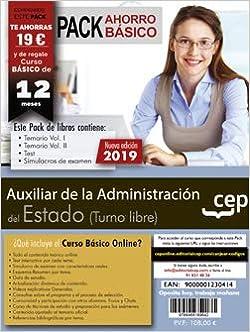 Pack de libros. Cuerpo General Auxiliar de la Administración del Estado Turno Libre: Amazon.es: Cep, Editorial: Libros