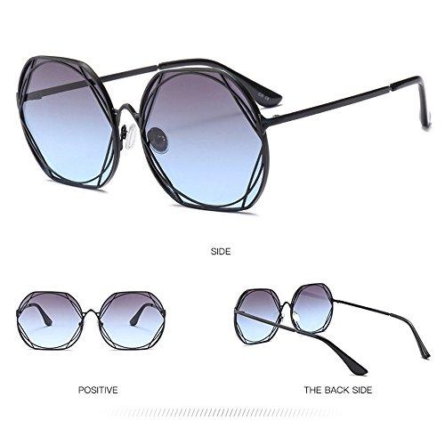 Chrome Moda Gafas Sol Trend Unidos De Metal Y Sol Redondas Gafas Gafas De De Europa De Estados Blue tTq848