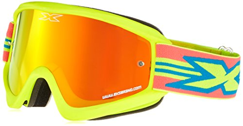 EKS Flat Out Series Masque de Motocross Mixte Adulte, Jaune