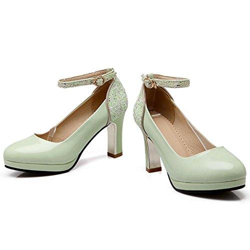 KemeKiss Strap Green Pumps Ankle Women wwpqYTP
