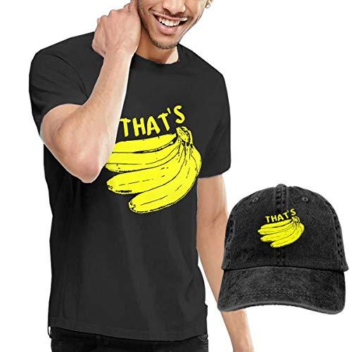 Gili Boom Monkey Banana Men's Short Sleeve Crewneck Cotton T-Shirt and Dad Hat Baseball Cap Polo Style for Men's