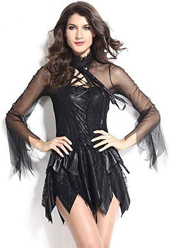 ZXYSR Vestido de Mujer, Vestido de Diablo de ángel Blanco y Negro ...