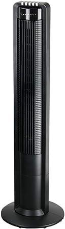 Opinión sobre FHDF Silencioso Ventilador De Torre con Mando a Distancia Portátil Oscilante Tower Fan3 Velocidades 3 Viento para El Hogar Y La Oficina Temporizador (108CM Negro)