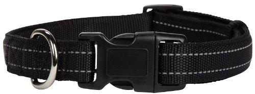 Petmate Padded Reflective Adjustable Collar - Black - .38 x 8-12 inch