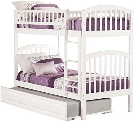 Leo Lacey Twin Over Twin Trundle Bunk Bed