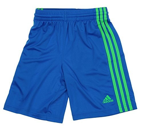 adidas Big Boys Youth Performance Climalite Shorts (Large 14-16, (Adidas Blue Basketball Shorts)