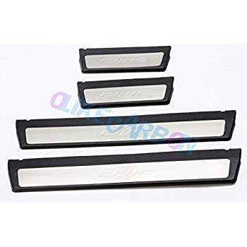 Red LED OLIKE for Honda Civic 2016-2019 10TH New Sedan Hatchback Fashion Style Car Door Sill Scuff Plate Guard Sills Protector Trim