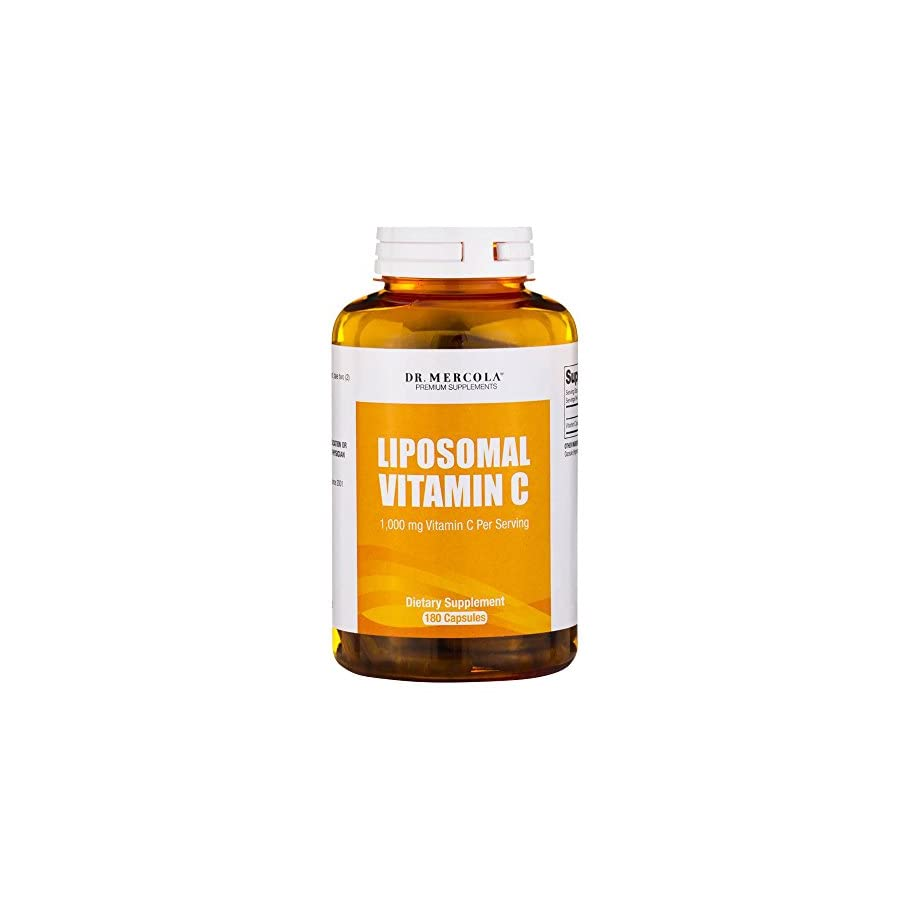 Dr. Mercola Liposomal Vitamin C 1,000mg Higher Bioavailability Potential & Protection Against Intestinal Discomfort 180 Capsules