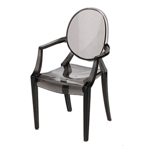 TOOGOO(R) 1:6 Dollhouse Furniture Modern Style Ghost Chair #2 Gray Style Ghost
