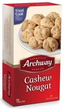 Archway Cashew Nougat Cookies 6 Pack 6 Oz Trays