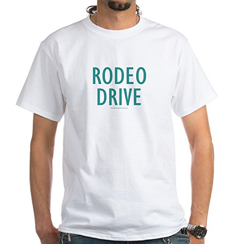 CafePress Rodeo Drive - White T-Shirt - 100% Cotton T-Shirt, - Shopping Angeles Los Drive Rodeo