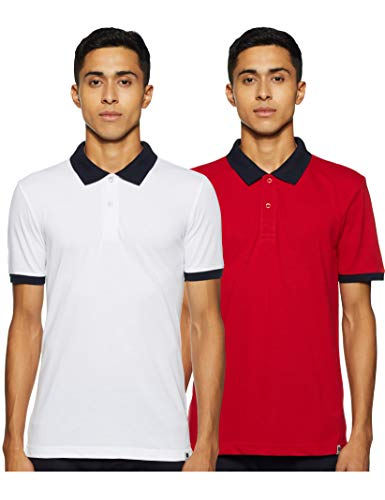 Symbol Men's Solid Regular fit Polo (Pack of 2) (SYMCPPO2-1_Multicolor-1_XXL)