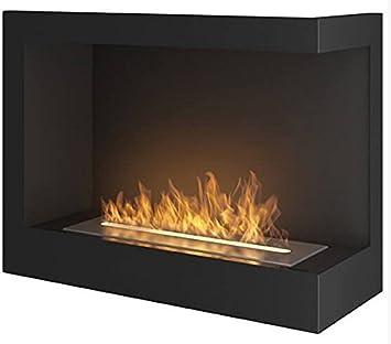 Chimenea de bioetanol modelo Corn600R, de 600 mm x 450 mm, de color negro mate: Amazon.es: Bricolaje y herramientas