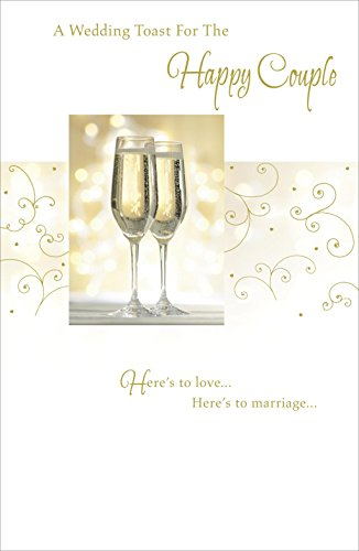 (Here's to Marriage Wedding Toast for the Happy Couple Congratulations Card)