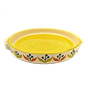 Kraftyhome-Ceramic-Round-Plate-8-Inches-Serving-Plate-Pizza-Plate-Microwave-Safe-Round-Plate-FL