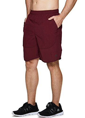 RBX Active Men's Running Yoga Athletic Shorts with Inner Bike Short Red L
