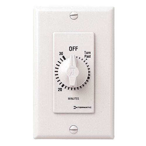 Wall Minute (Intermatic FD30MWC 30-Minute Countdown Wall Timer for Fans and Lights, White)