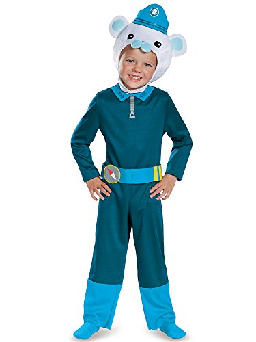 [Disguise Captain Barnacles Classic Octonauts Silvergate Media Costume, Large/4-6] (Ship Captain Costumes)