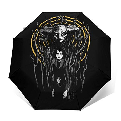 Princess Reborn Pans Labyrinth Windproof Compact Auto Open And Close Folding Umbrella,Automatic Foldable Travel Parasol Umbrella