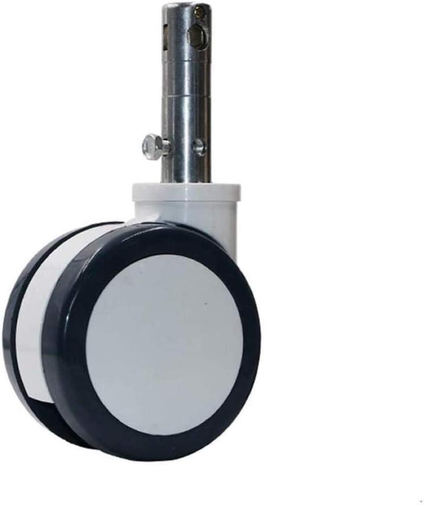 6 pulgadas Rueda giratoria, ruedas de las camas médicas, Plunge Rueda doble disco con bloqueo central de instrumentos de precisión Silencio Caster (4 unidades)