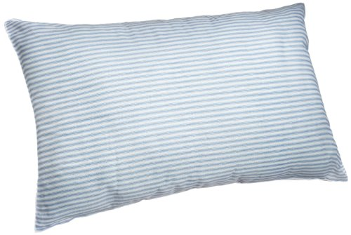 Adorable Adored Granny Pillow with Blue and White Stripe Poly Cotton Cover, (Granny Stripe)