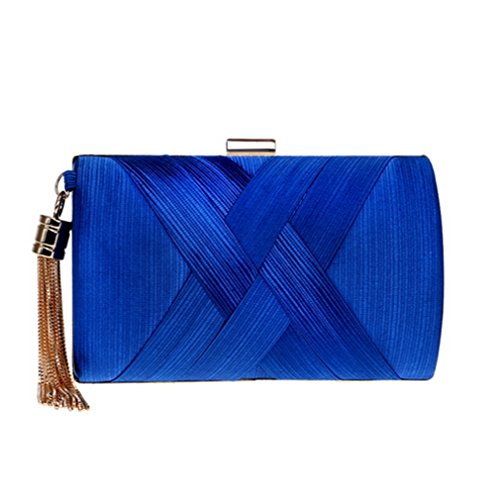 Bags Pocket Evening Bags Key Phone Small Shoulder Clutch Handbags Women Ym1215blue Bag Day Lady Tassel Chain Purse xSFw46P