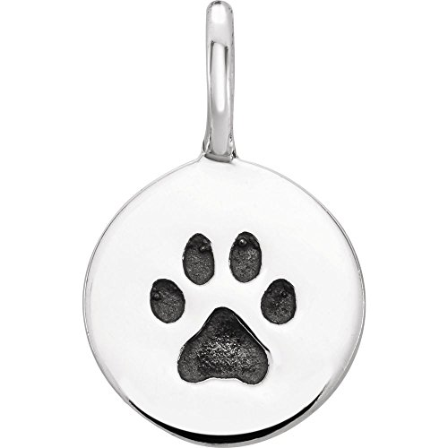 Sterling Silver Paw Print...