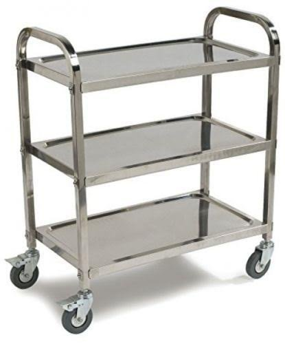 Stainless Steel 3-Shelf Knock Down Food Utility Service Cart 34 x 18