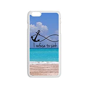 Sea Beach I Refuse To Sink White iPhone plus 6 case