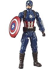 "Marvel Avengers End Game - 12"" Captain America Action Figure - Titan Hero Series - Kids Toys Ages 4+"