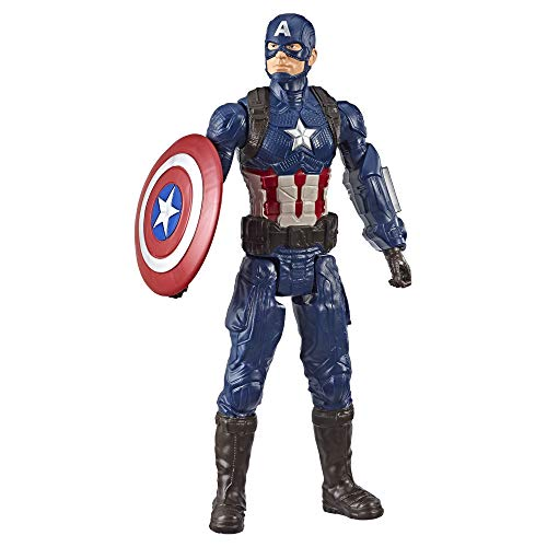 "Avengers Marvel Endgame Titan Hero Series Captain America 12""-Scale Super Hero Action Figure Toy with Titan Hero Power Fx Port"