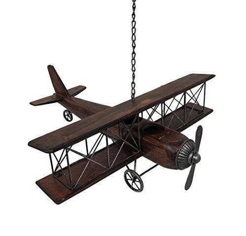 Deco 79 92647 Wood & Metal Airplane