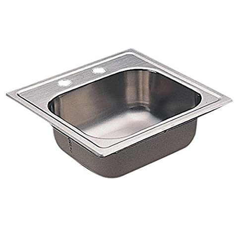 Moen Kg2045622 2000 Series 20 Gauge Single Bowl Drop In Sink, Stainless Steel (Moen Drop In Sink)
