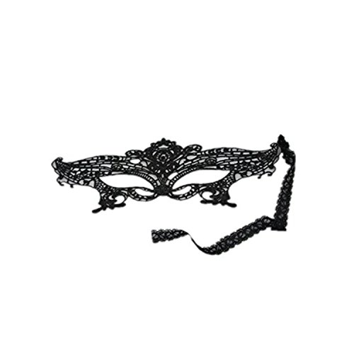 Dealzip Inc Killer Ball Masks, Ball Masks exy Black Lace Eyes Mask for Halloween Masquerade Party Ball Fancy Dress Accessory -