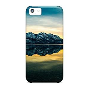For Iphone 5c Protector Case Lake In Monochrome Green Phone Cover
