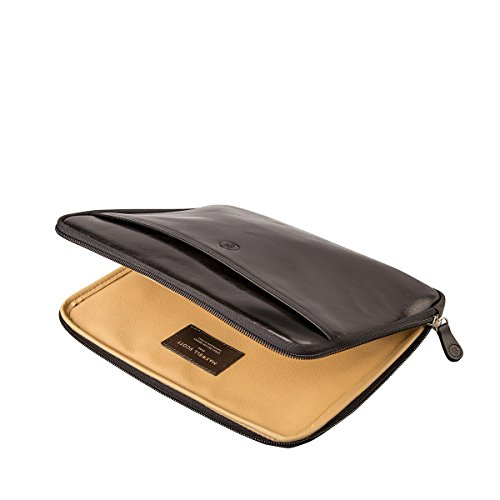 Maxwell Scott Luxury Black Leather iPad Sleeve (The Luzzi) - One Size by Maxwell Scott Bags (Image #4)