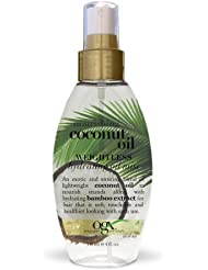 OGX Weightless Hydrating Oil Mist Nourishing Coconut Oil, (1) 4 Ounce Spray Bottle, Paraben Free, Sulfate Free, Sustainable Ingredients, Hydrating and Softening