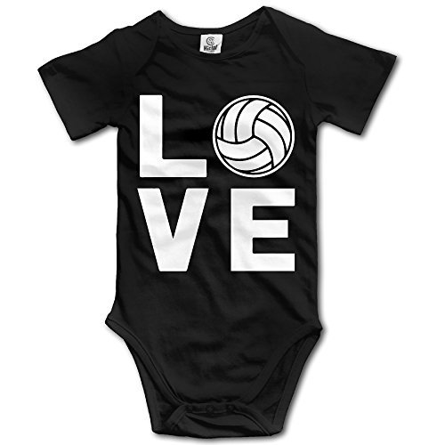 Love Volleyball Perfect Gift For Volleyball Fans Organic Baby Onesies Bodysuit