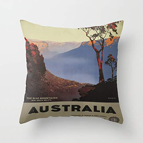 Vintage Poster - Australia Fashion Throw Pillow Cover with Acknowledged Cute Outlook for Sofa and Chairs (Best Diy Hair Dye Australia)